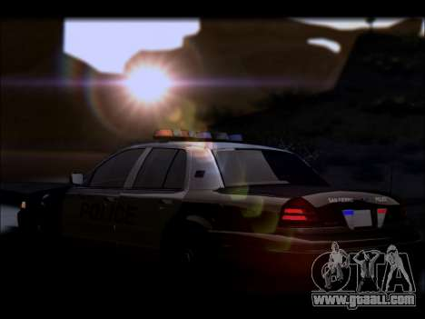 Ford Crown Victoria 2005 Police for GTA San Andreas bottom view