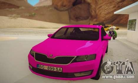 Skoda Rapid 2014 for GTA San Andreas