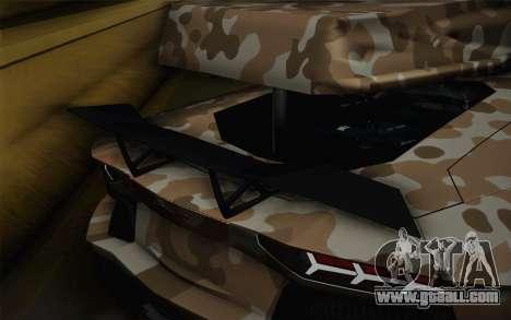 Lamborghini Aventador LP 700-4 Camouflage for GTA San Andreas back view