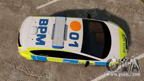 Seat Cupra Metropolitan Police [ELS] for GTA 4 right view