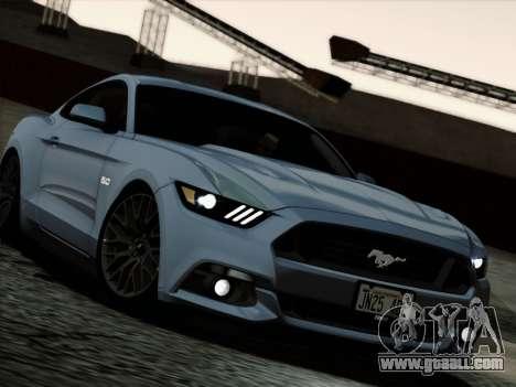 Ford Mustang GT 2015 v2 for GTA San Andreas