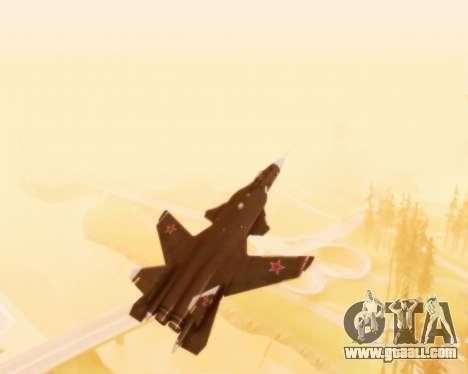 Su-47 Berkut v1.0 for GTA San Andreas upper view