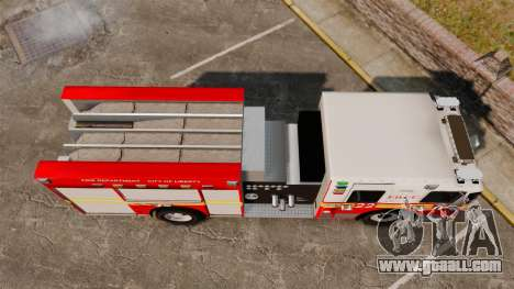 Firetruck FDLC [ELS] for GTA 4 right view