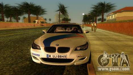 BMW M5 (E60) 2009 Nurburgring Ring Taxi for GTA Vice City inner view