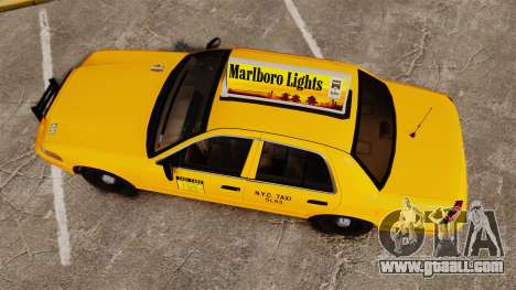 Ford Crown Victoria 1999 NY Old Taxi Design for GTA 4 right view