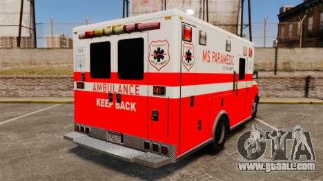 Brute Ambulance FDLC [ELS] for GTA 4 back left view