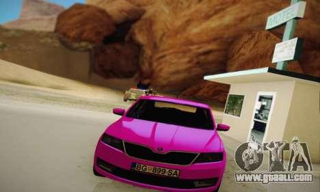Skoda Rapid 2014 for GTA San Andreas back view
