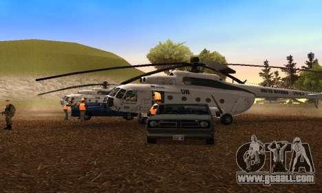 MI 8 UN (United Nations) for GTA San Andreas left view