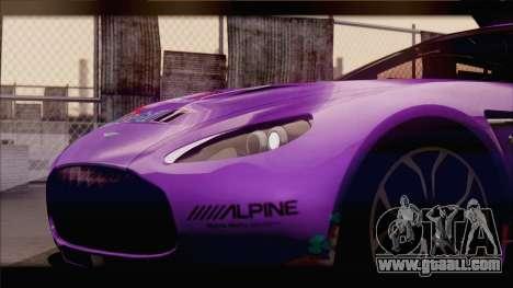Aston Martin V12 Zagato 2012 [IVF] for GTA San Andreas wheels