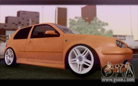Volkswagen Golf IV for GTA San Andreas inner view