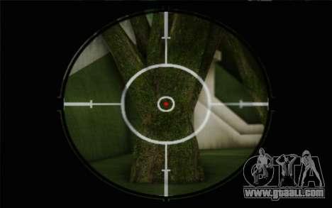 7.62 sniper rifle Dragunov SVD-s for GTA San Andreas forth screenshot