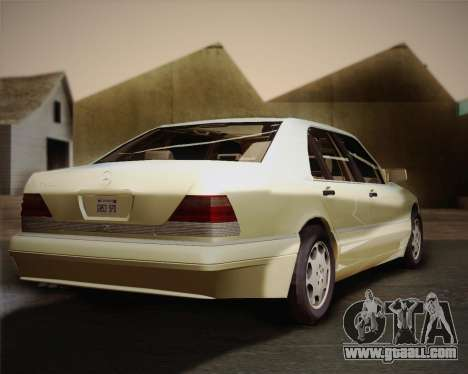 Mercedes-Benz S600 V12 Custom for GTA San Andreas back view