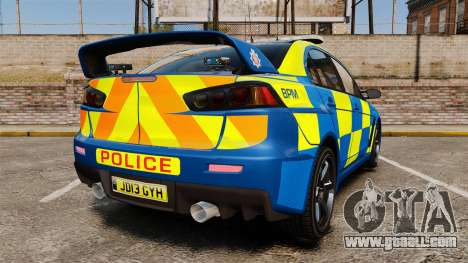 Mitsubishi Lancer Evo X Humberside Police [ELS] for GTA 4 back left view