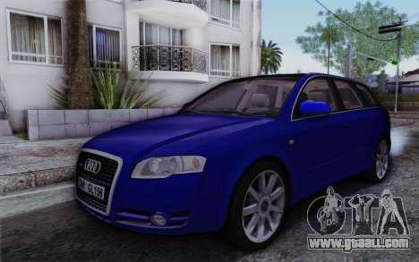 Audi A4 2005 Avant 3.2 Quattro Open Sky for GTA San Andreas