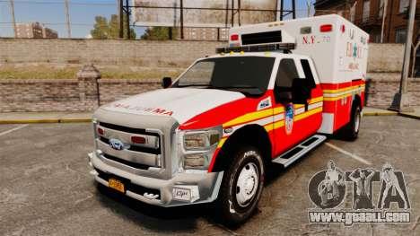 Ford F-350 2013 FDNY Ambulance [ELS] for GTA 4