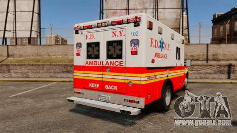 Ford F-350 FDNY Ambulance [ELS] for GTA 4 back left view