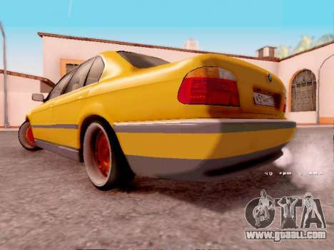 BMW 730i for GTA San Andreas back left view
