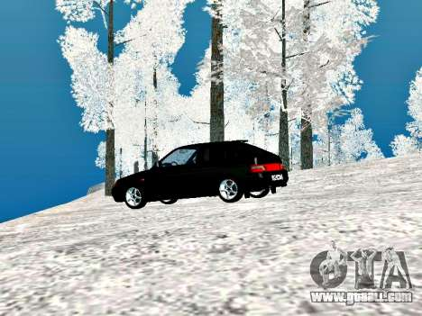 LADA 2112 Coupe green Sandpiper for GTA San Andreas right view