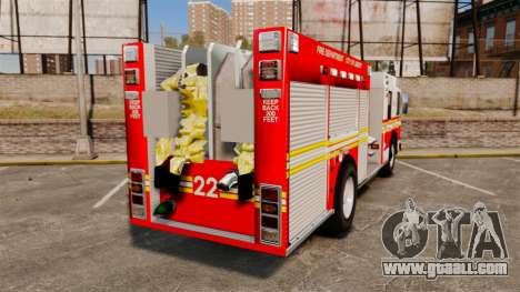 Firetruck FDLC [ELS] for GTA 4 back left view