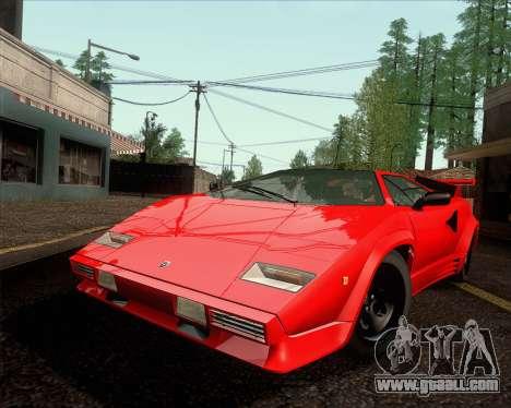 Lamborghini Countach LP500 Quattrovalvole 1988 for GTA San Andreas back left view