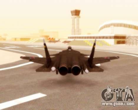Su-47 Berkut v1.0 for GTA San Andreas inner view