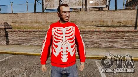 Red Sweater-skeleton- for GTA 4