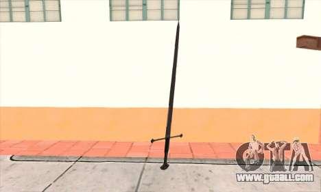 Sword Narsil for GTA San Andreas second screenshot