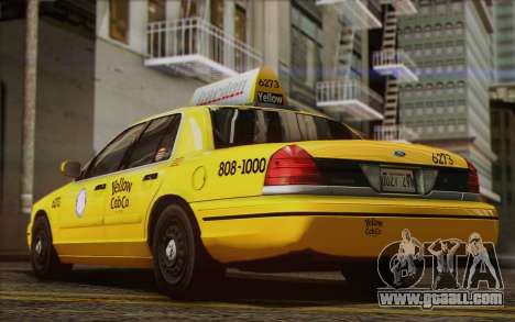 Ford Crown Victoria LA Taxi for GTA San Andreas inner view