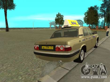 GAZ 31105 Volga Taxi for GTA San Andreas right view