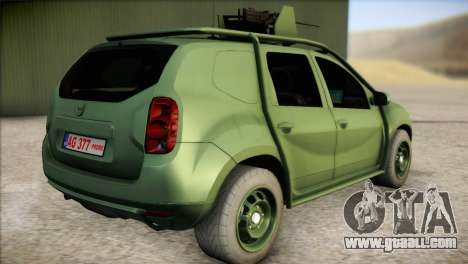Dacia Duster Army Skin 1 for GTA San Andreas left view