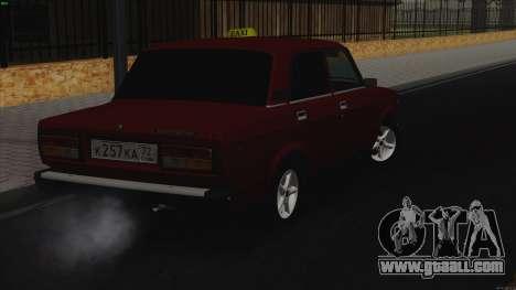 VAZ 2107 Bombilla for GTA San Andreas back left view