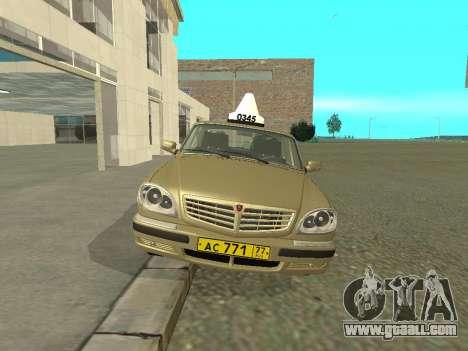 GAZ 31105 Volga Taxi for GTA San Andreas left view