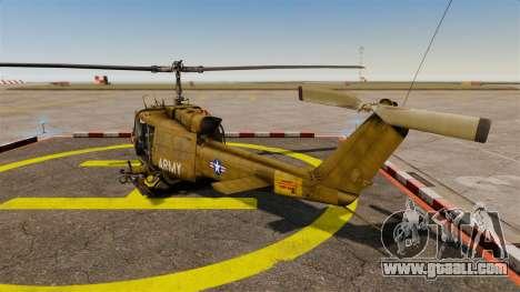 Bell UH-1 Iroquois v2.0 Gunship [EPM] for GTA 4 back left view