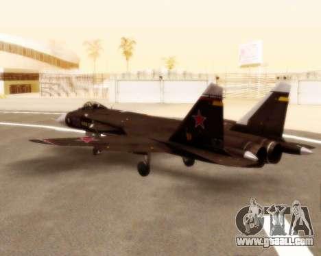 Su-47 Berkut v1.0 for GTA San Andreas back view