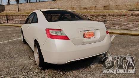 Honda Civic Si v2.0 for GTA 4 back left view