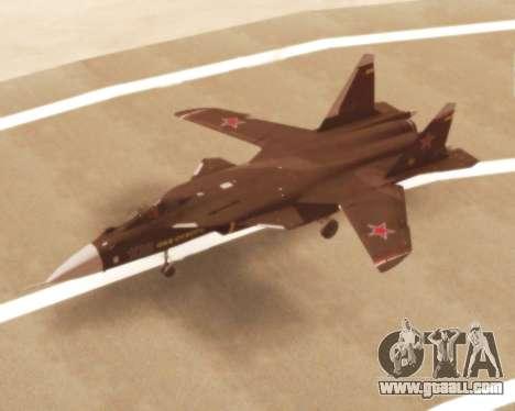 Su-47 Berkut v1.0 for GTA San Andreas