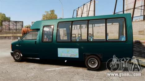 GTA V Brute Tour Bus for GTA 4 left view