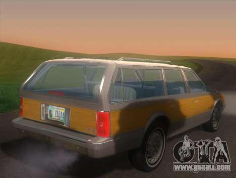 Oldsmobile Cutlass Ciera Cruiser for GTA San Andreas left view