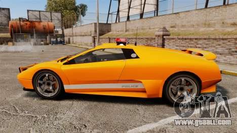 Infernus Police for GTA 4 left view