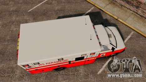 Brute Ambulance FDLC [ELS] for GTA 4 right view
