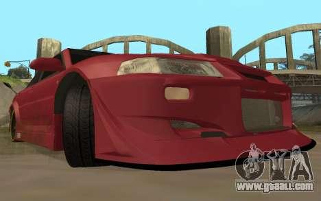Mitsubishi Lancer Evolution VI for GTA San Andreas back view
