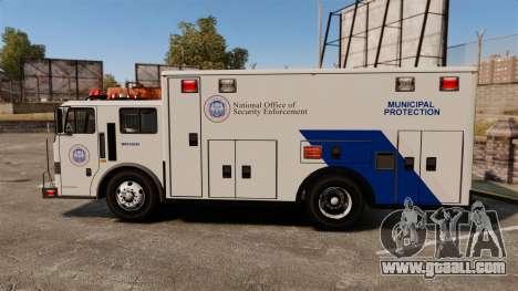 Hazmat Truck NOOSE [ELS] for GTA 4 left view