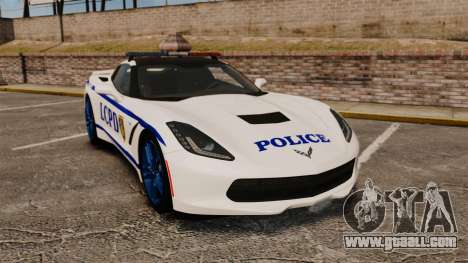 Chevrolet Corvette C7 Stingray 2014 Police for GTA 4