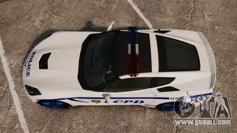 Chevrolet Corvette C7 Stingray 2014 Police for GTA 4 right view