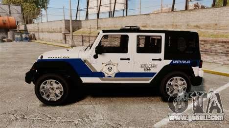Jeep Wrangler Rubicon Police 2013 [ELS] for GTA 4 left view