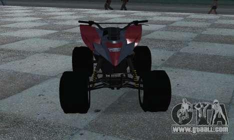 GTA 5 Blazer ATV for GTA San Andreas back view