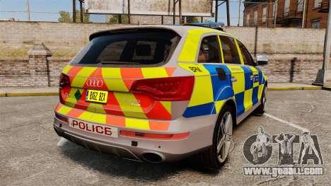 Audi Q7 Metropolitan Police [ELS] for GTA 4 back left view