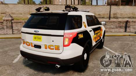 Ford Explorer 2013 Longwood Police [ELS] for GTA 4 back left view