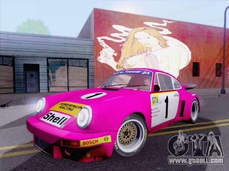 Porsche 911 RSR 3.3 skinpack 5 for GTA San Andreas left view