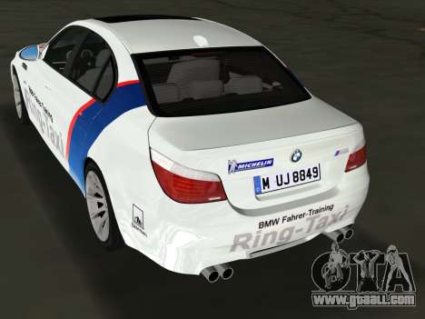 BMW M5 (E60) 2009 Nurburgring Ring Taxi for GTA Vice City left view